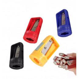 Set of 10 carpenters pencil sharpeners, blue