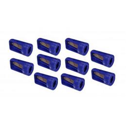Lot de 10 taille-crayons de menuisier, bleu