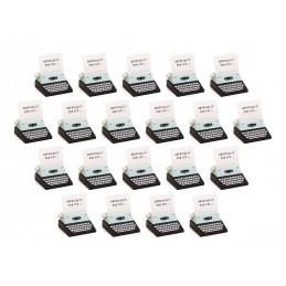 Conjunto de 20 suportes para fotos, suportes para cartões (máquina de escrever, preto)  - 1