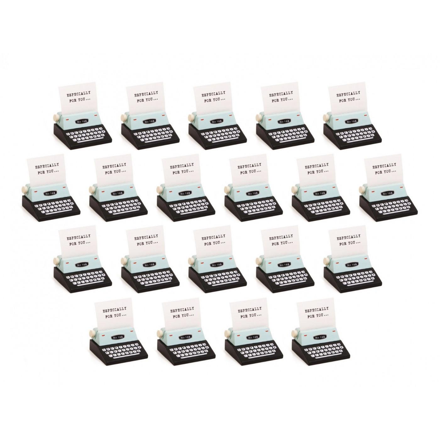 Conjunto de 20 portafotos, portatarjetas (máquina de escribir, negro)  - 1