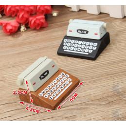 Conjunto de 20 suportes para fotos, suportes para cartões (máquina de escrever, marrom)  - 2