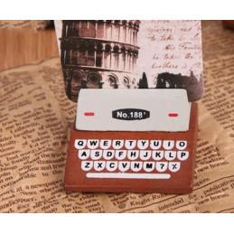 Conjunto de 20 suportes para fotos, suportes para cartões (máquina de escrever, marrom)  - 6