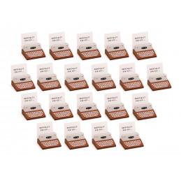 Conjunto de 20 portafotos, portatarjetas (máquina de escribir, marrón)  - 1