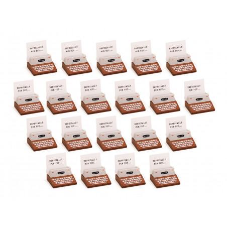 Set van 20 fotohouders, kaarthouders (typmachine, bruin)