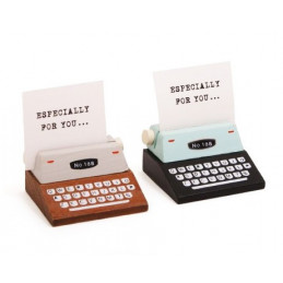 Set of 20 photo/card holders (brown & black, typewriter)
