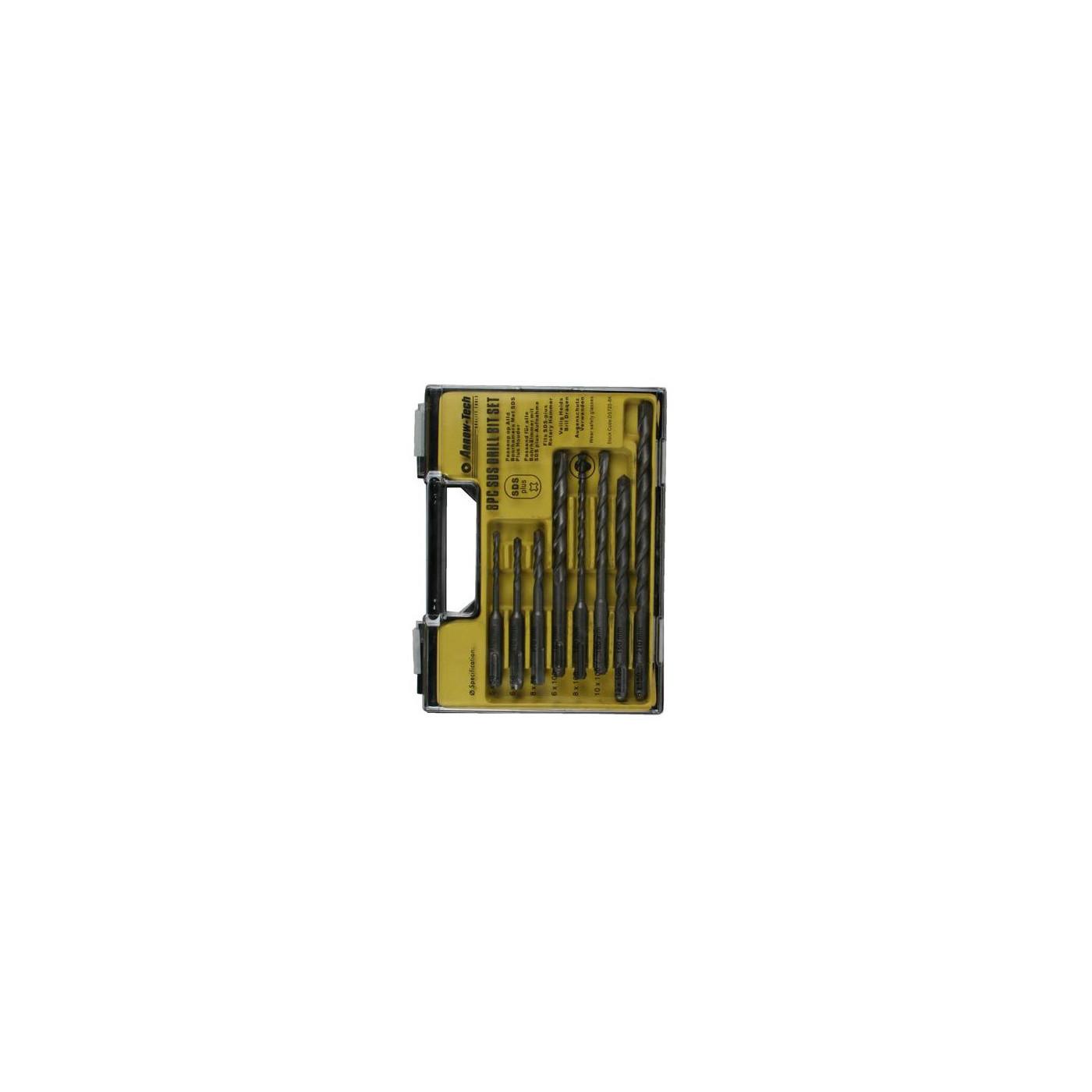 SDS-PLUS a mis des forets à béton (8 pcs) dans une boîte