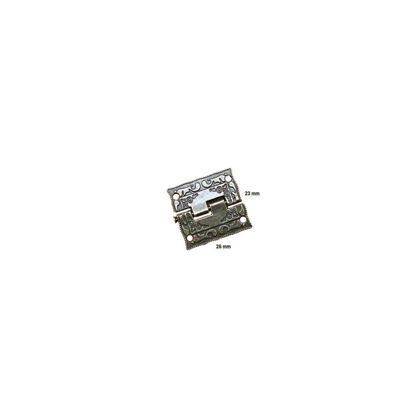 Conjunto de 6 mini bisagras antiguas (26x23 mm)  - 1