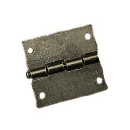 Conjunto de 6 mini dobradiças antigas (26x23 mm)  - 2
