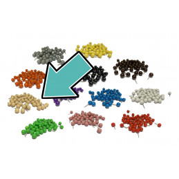 Conjunto de bola de 250 pinos: areia, 9,5 mm  - 1