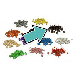 Set of 250 push pins ball:...