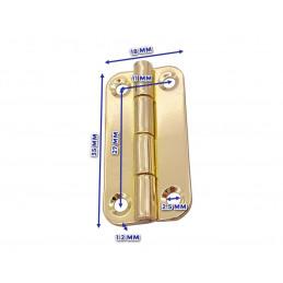 Set van 20 stevige scharniertjes voor kistje (18x35 mm, goudkleur)  - 2