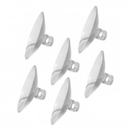 Set of 60 rubber suction cups hole, 30 mm  - 1