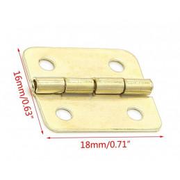 Zestaw 60 sztuk małych mosiężnych zawiasów (18x16 mm)  - 2