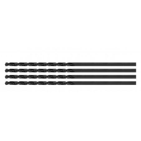 Set van 4 metaalboren, extra lang (5.2x300 mm)