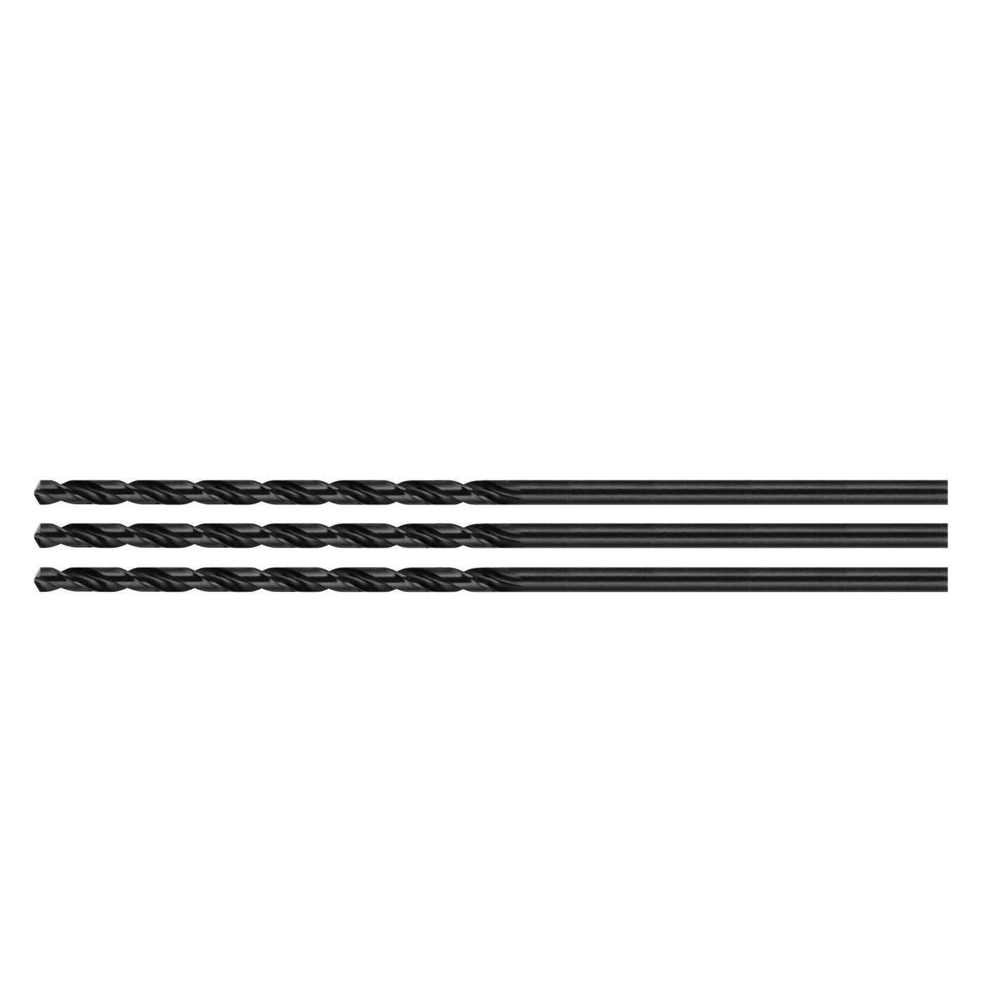 Set of 3 metal drill bits, extra long (6.0x300 mm)