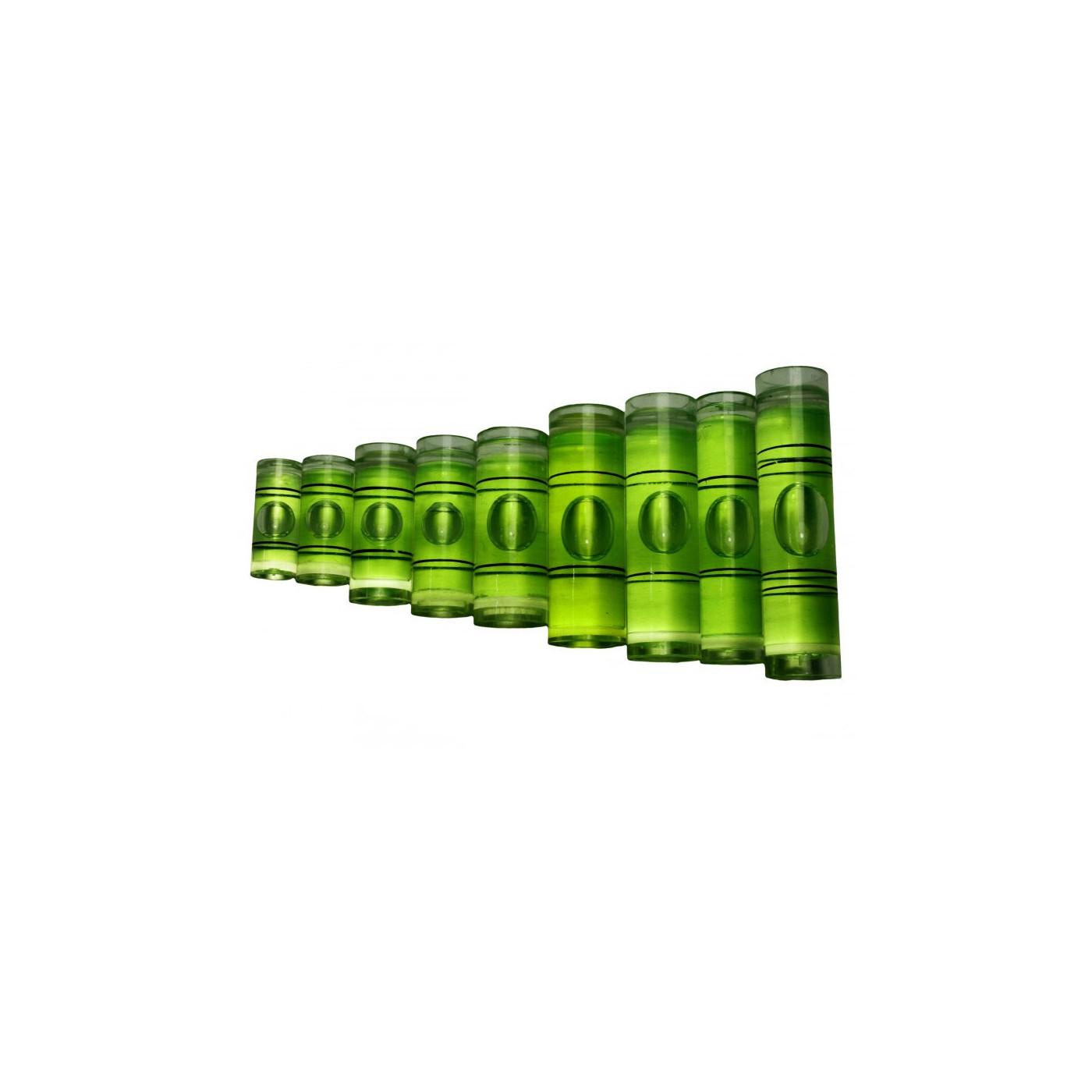 Ensemble de 20 flacons pour niveaux à bulle (taille 9, vert)