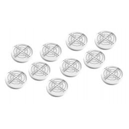 Set von 10 runde Wasserwaage (32x7 mm, weiß)  - 1