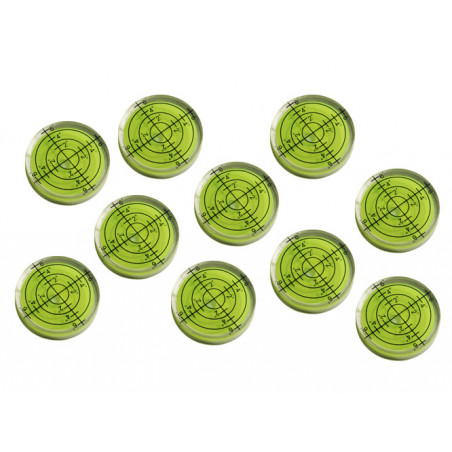 Set van 10 ronde waterpasjes (32x7 mm, groen)