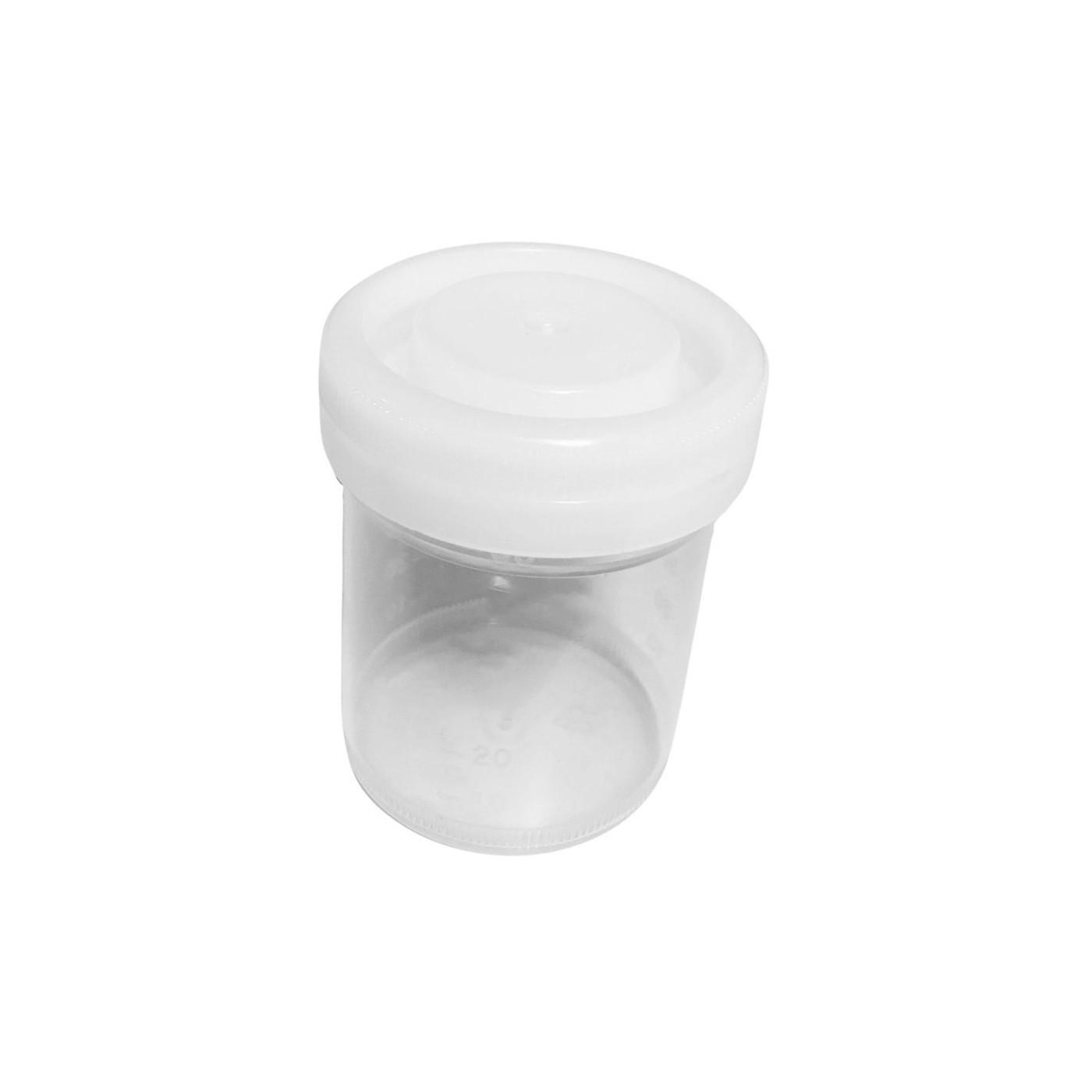 Set van 50 plastic potjes (120 ml) met schroefdoppen