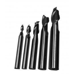 Set HSS frezen, 2 flutes (5 stuks)  - 1