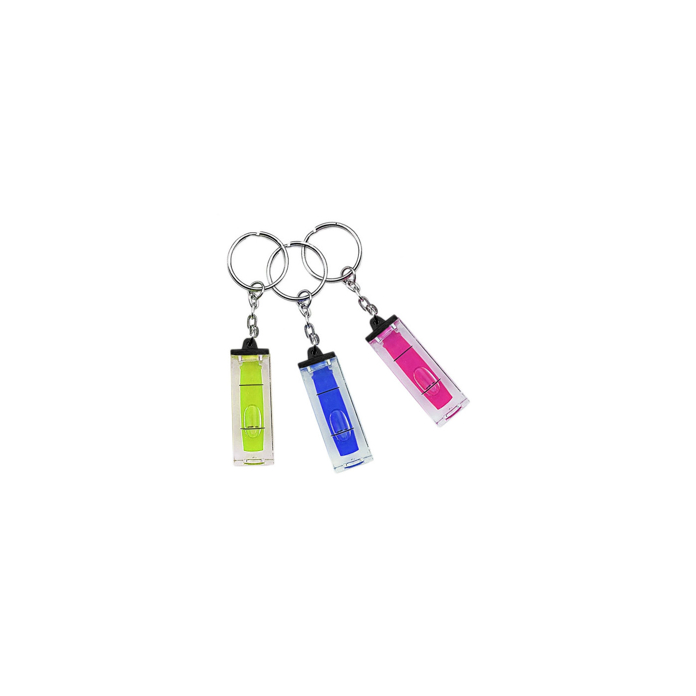 Set of 20 key chains with bubble level (green)  - 1