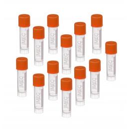 Lot de 100 tubes à essai en plastique (1,8 ml, avec bouchon à