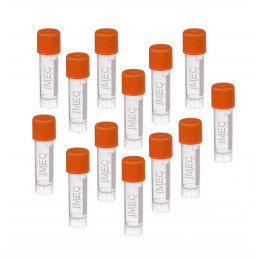 Set of 100 plastic test tubes (1.8 ml, with screw cap)