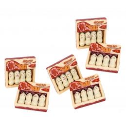 Set of 24 funny peanut erasers