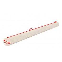Set of 100 wooden sticks (20 cm length, 9.5 mm dia, birchwood)