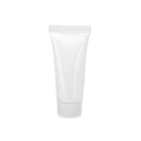 Set of 50 refillable flacons/tubes, white, 10 ml, with screw