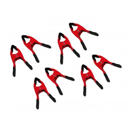 Set van 8 zeilklemmen (10 cm, rood)