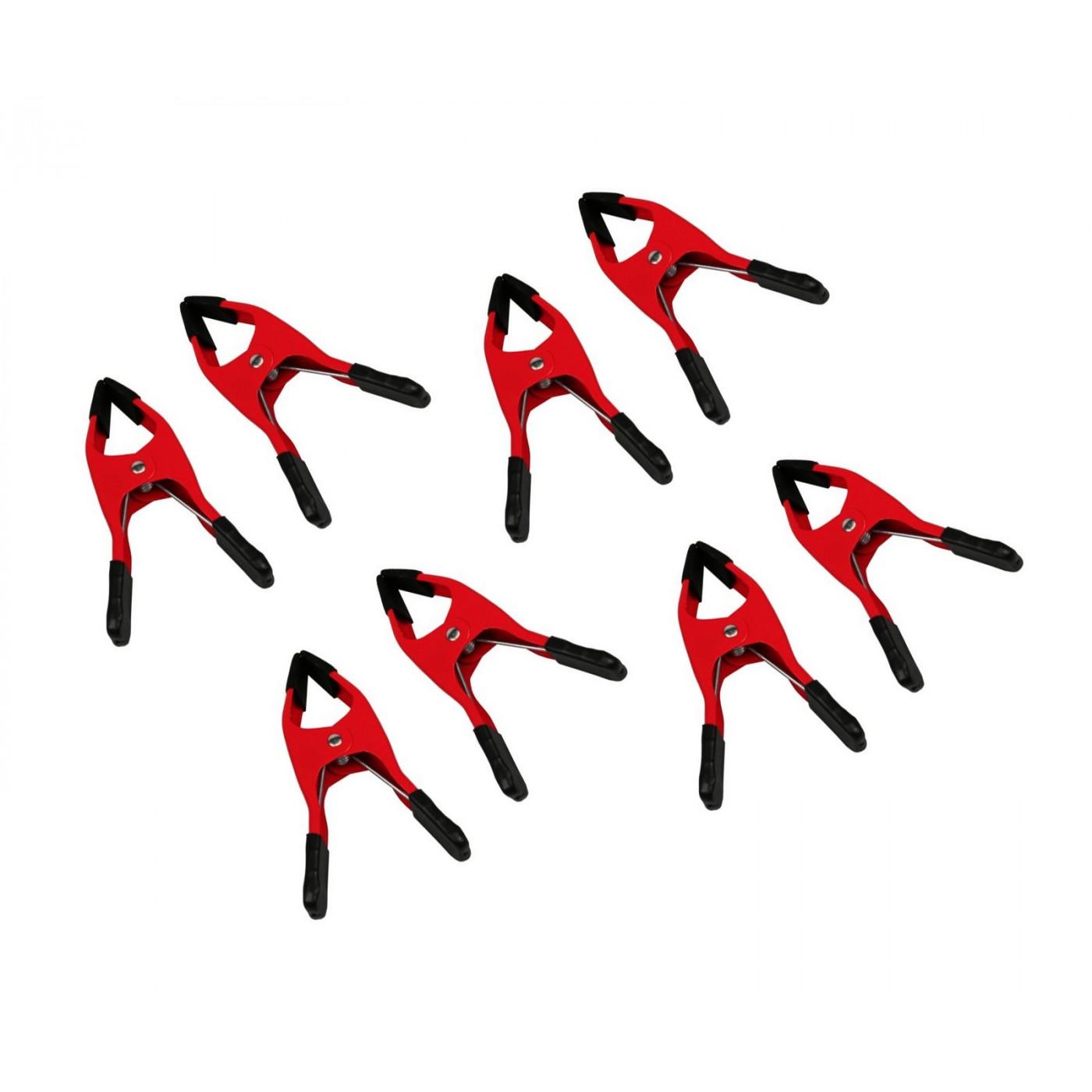 Ensemble de 6 pinces (6 pouces, rouge)