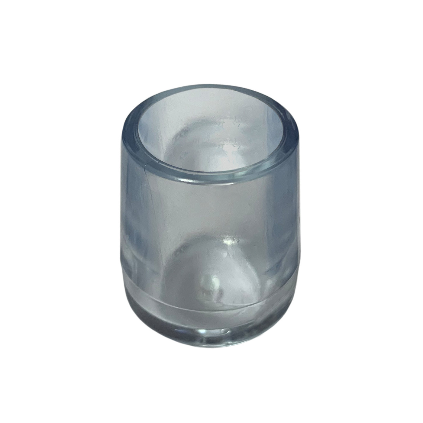 Set von 16 flexibele Stuhlbeinkappen (Außenkappe, extra stark, rund, 12.7 mm, transparent) [O-RO-12.7-T-X]  - 1