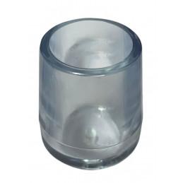 Set van 16 siliconen stoelpootdoppen (omdop, extra sterk, rond, 18 mm, transparant) [O-RO-18-T-X]  - 1