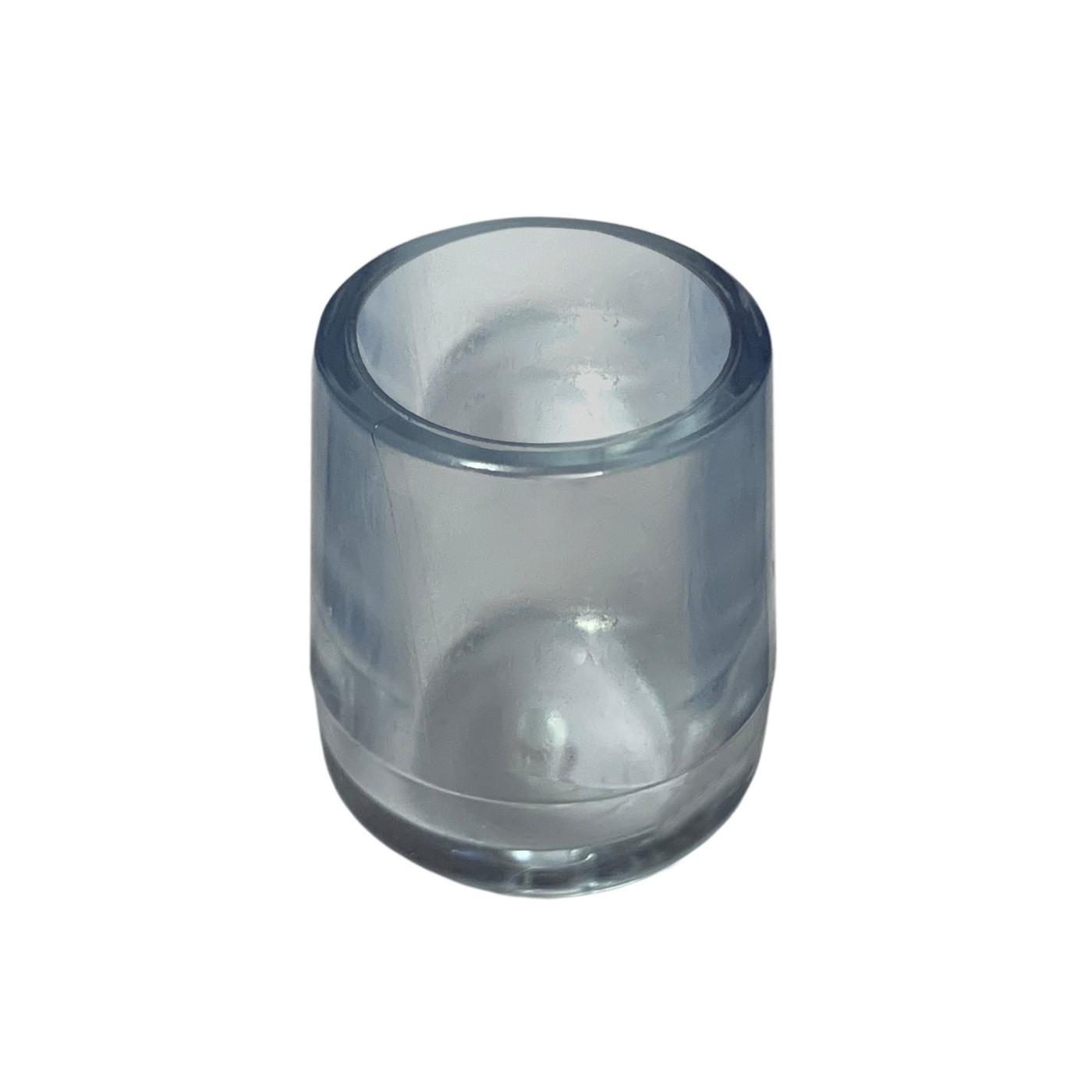 Set von 16 flexibele Stuhlbeinkappen (Außenkappe, extra stark, rund, 18 mm, transparent) [O-RO-18-T-X]  - 1