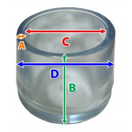 Set von 16 silikonkappen (Außenkappe, extra stark, rund, 21 mm