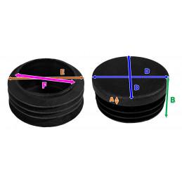Set van 48 stoelpootdoppen (F10/E15/D16, zwart)  - 2