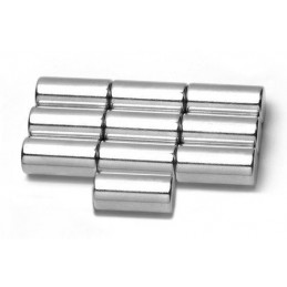 Zestaw 10 silnych magnesów 10x15 mm