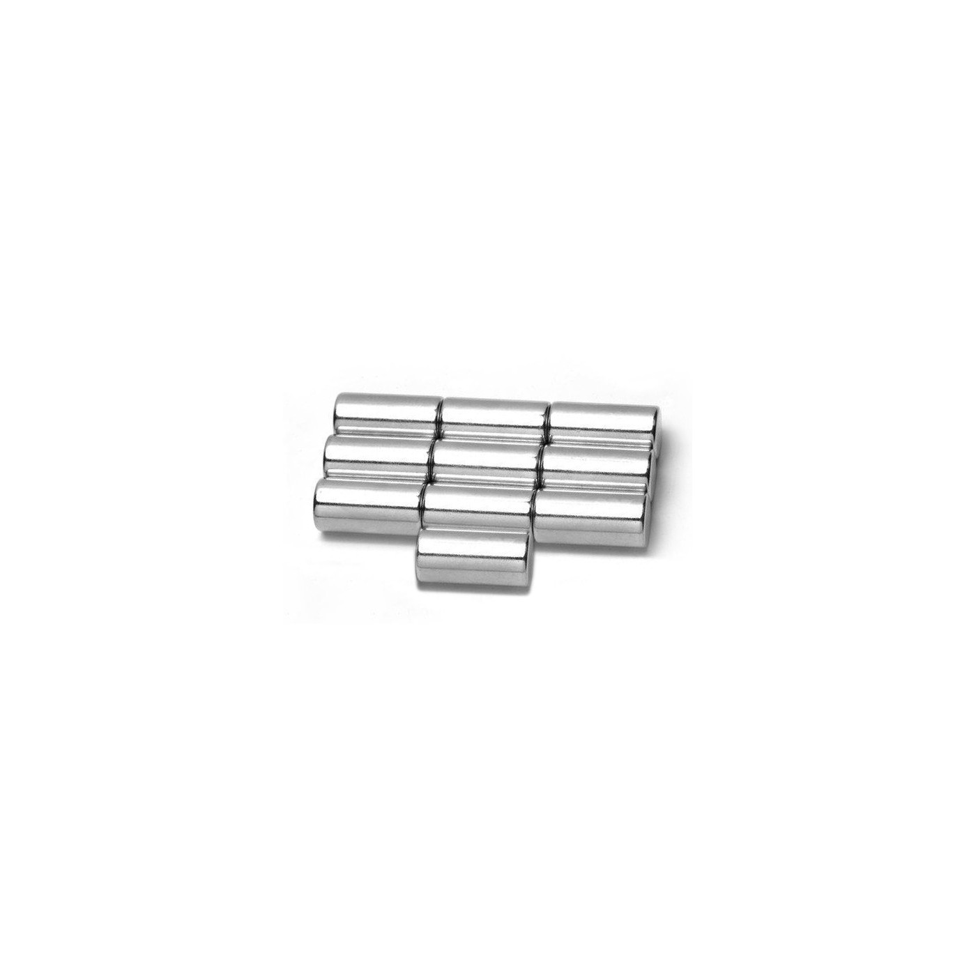 Set von 10 starken Magneten 10x15 mm  - 1