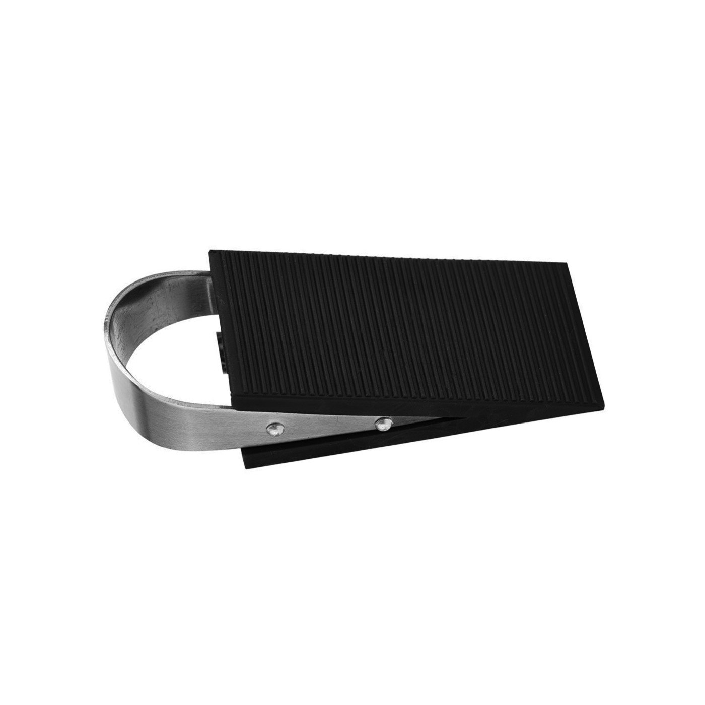 Set of 10 door stoppers (stainless steel and rubber)