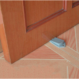 Set of 10 door stoppers (5x10x2 cm, rubber, white)