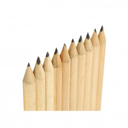 Set of 50 pencils (19 cm length, type 4, with eraser)