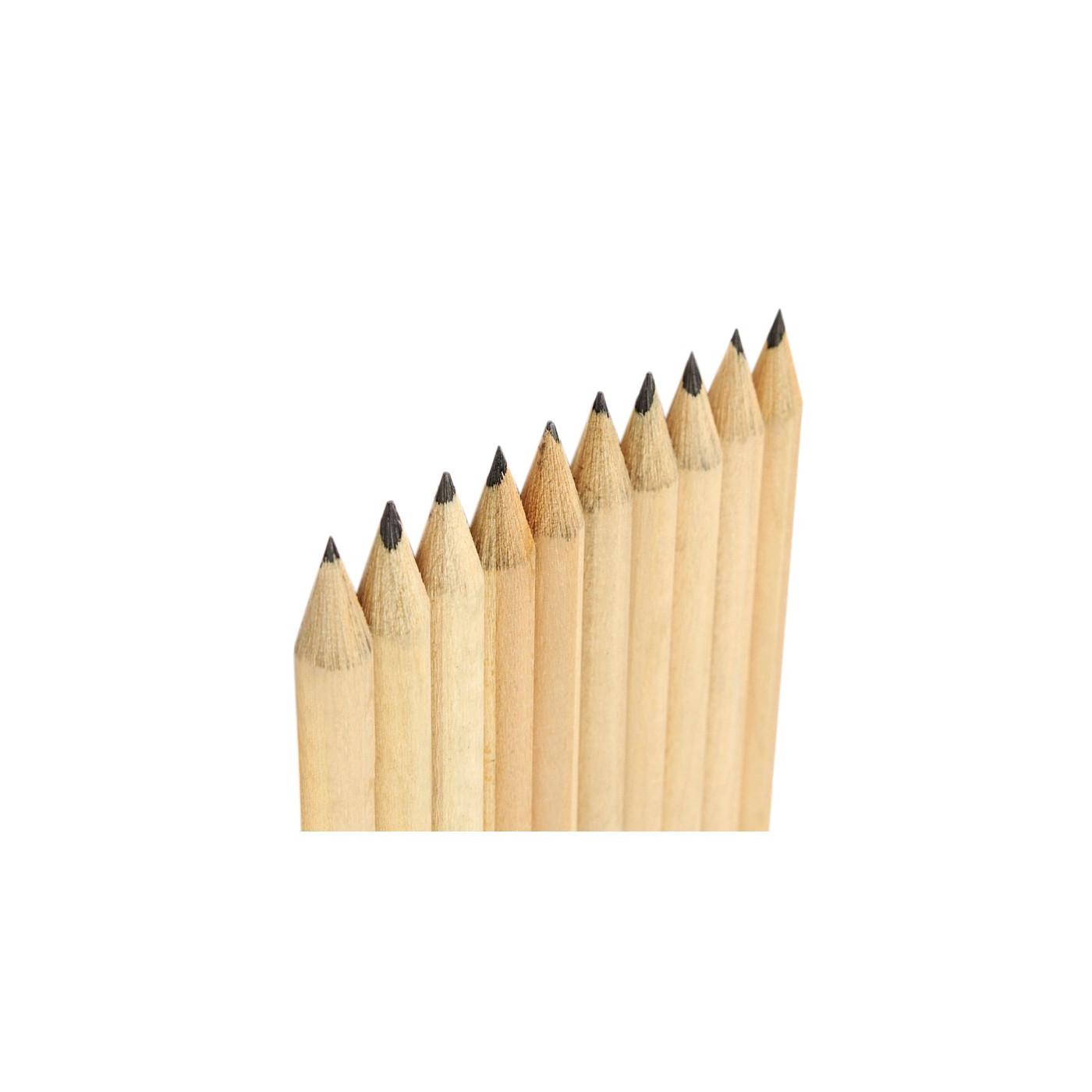 Set van 50 potloden (19 cm lengte, type 4, met gum)  - 1