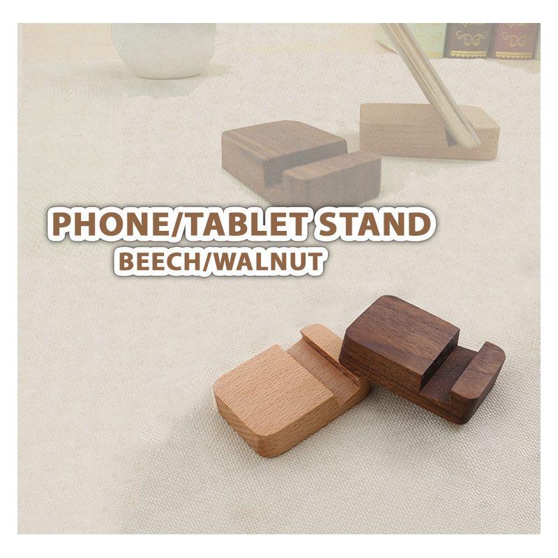 Basic Telefon- / Tablet-Ständer aus Holz (Buche) - 1