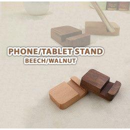 Basic Telefon- / Tablet-Ständer aus Holz (Nussbaum) - 1