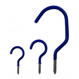Set of 25 screw hooks (size 2, yellow)