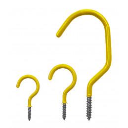 Conjunto de 25 ganchos de tornillo (tamaño 2, amarillo)  - 4
