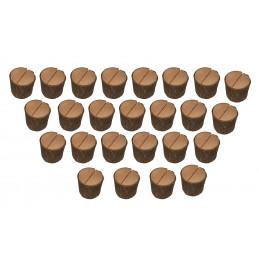 Conjunto de 25 bonitos portatarjetas de tocón de árbol (tipo 4)  - 1