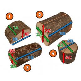Set of 10 nice tree stump card holders (type 2)
