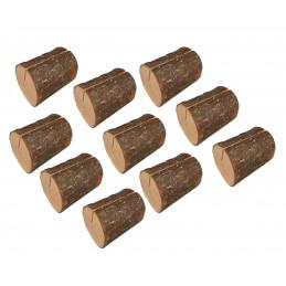 Lot de 10 jolis porte-cartes souche d'arbre (type 2)